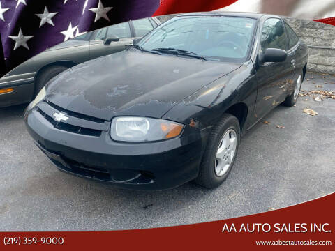 2003 Chevrolet Cavalier for sale at AA Auto Sales Inc. in Gary IN
