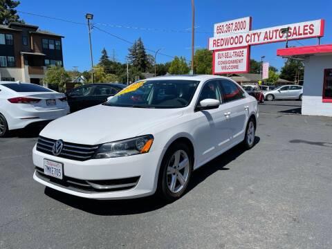 2013 Volkswagen Passat for sale at Redwood City Auto Sales in Redwood City CA