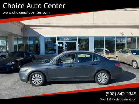 2009 Honda Accord for sale at Choice Auto Center in Shrewsbury MA
