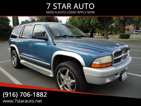2002 Dodge Durango for sale at 7 STAR AUTO in Sacramento CA