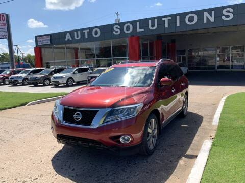 2014 Nissan Pathfinder for sale at Auto Solutions in Warr Acres OK
