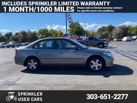 2004 Honda Civic for sale at Sprinkler Used Cars in Longmont CO