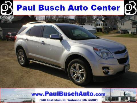 2013 Chevrolet Equinox for sale at Paul Busch Auto Center Inc in Wabasha MN