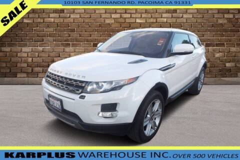 2013 Land Rover Range Rover Evoque Coupe for sale at Karplus Warehouse in Pacoima CA