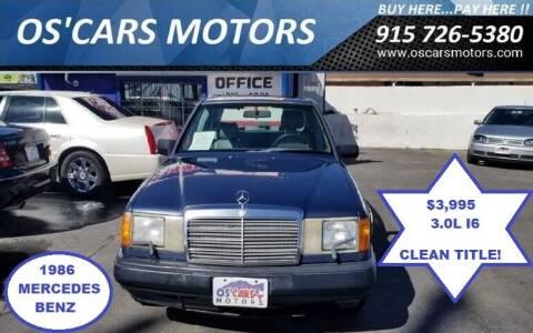 1986 Mercedes-Benz 300-Class for sale at Os'Cars Motors in El Paso TX