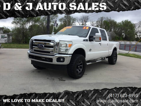 2013 Ford F-250 Super Duty for sale at D & J AUTO SALES in Joplin MO