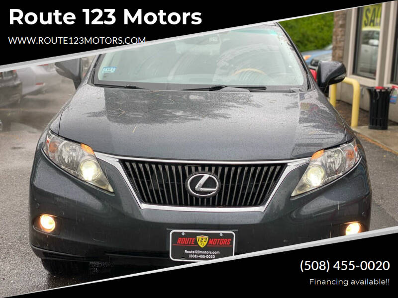 2011 Lexus RX 350 for sale at Route 123 Motors in Norton MA
