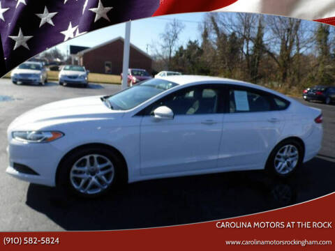 2016 Ford Fusion for sale at Carolina Motors at the Rock in Rockingham NC
