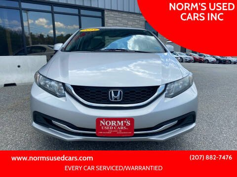 2013 Honda Civic for sale at NORM'S USED CARS INC in Wiscasset ME