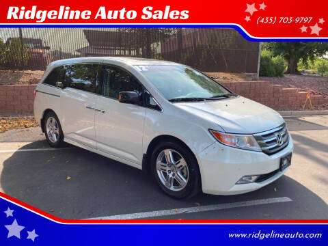 2012 Honda Odyssey for sale at Ridgeline Auto Sales in Saint George UT