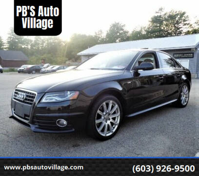 2012 Audi A4 for sale at PB'S Auto Village in Hampton Falls NH