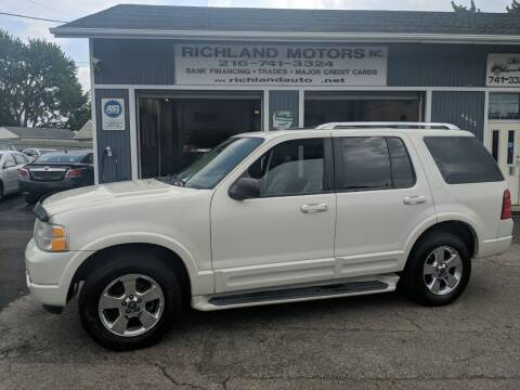 2003 Ford Explorer for sale at Richland Motors in Cleveland OH