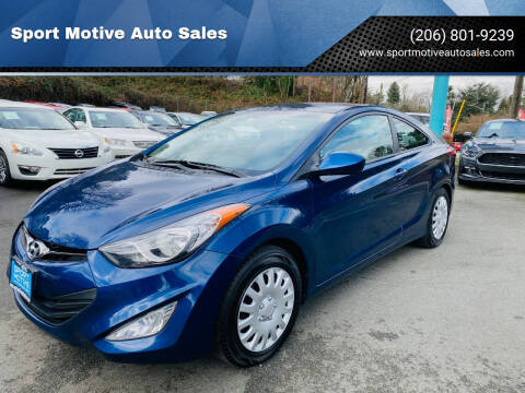 2013 Hyundai Elantra Coupe for sale at Sport Motive Auto Sales in Seattle WA