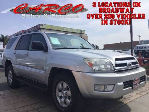 2005 Toyota 4Runner for sale at CARCO SALES & FINANCE in Chula Vista CA