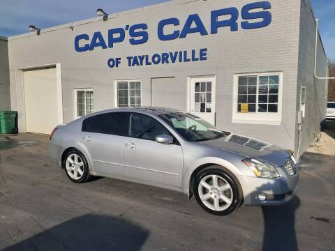 2004 Nissan Maxima for sale at Caps Cars Of Taylorville in Taylorville IL