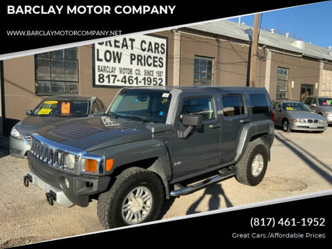 2008 HUMMER H3 for sale at BARCLAY MOTOR COMPANY in Arlington TX