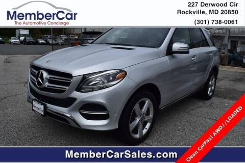 2018 Mercedes-Benz GLE for sale at MemberCar in Rockville MD