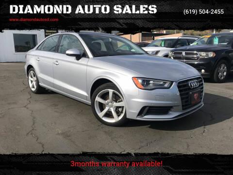 2016 Audi A3 for sale at DIAMOND AUTO SALES in El Cajon CA
