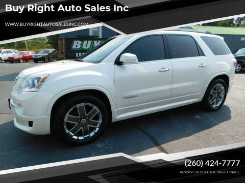 2012 GMC Acadia for sale at Buy Right Auto Sales Inc in Fort Wayne IN