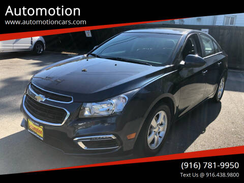 2015 Chevrolet Cruze for sale at Automotion in Roseville CA