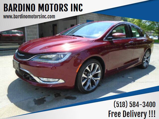 2016 Chrysler 200 for sale at BARDINO MOTORS INC in Saratoga Springs NY