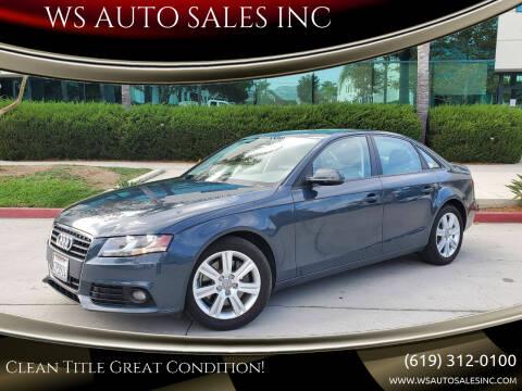 2011 Audi A4 for sale at WS AUTO SALES INC in El Cajon CA