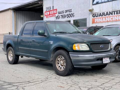 2001 Ford F-150 for sale at Auto Source in Banning CA