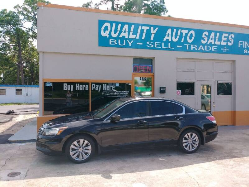 2011 Honda Accord for sale at QUALITY AUTO SALES OF FLORIDA in New Port Richey FL