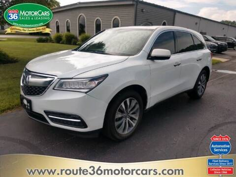 2016 Acura MDX for sale at ROUTE 36 MOTORCARS in Dublin OH