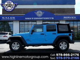 2018 Jeep Wrangler JK Unlimited for sale at Highline Group Motorsports in Lowell MA