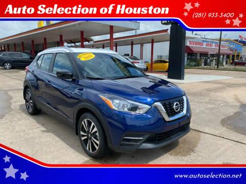 2019 Nissan Kicks for sale at Auto Selection of Houston in Houston TX