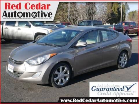 2013 Hyundai Elantra for sale at Red Cedar Automotive in Menomonie WI