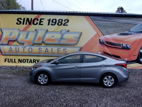 2016 Hyundai Elantra for sale at Pyles Auto Sales in Kittanning PA