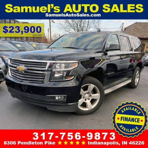 2015 Chevrolet Suburban for sale at Samuel's Auto Sales in Indianapolis IN