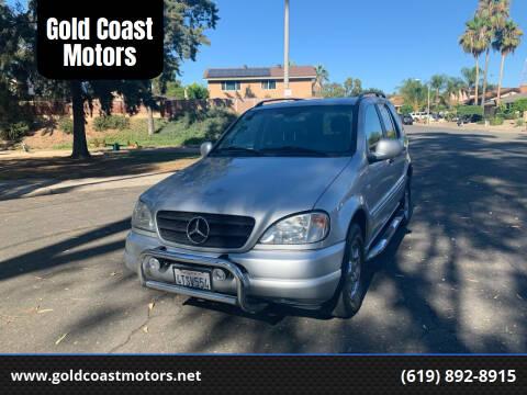 2001 Mercedes-Benz M-Class for sale at Gold Coast Motors in Lemon Grove CA