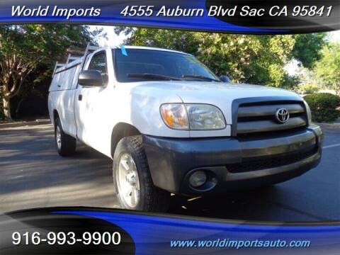2005 Toyota Tundra for sale at World Imports in Sacramento CA