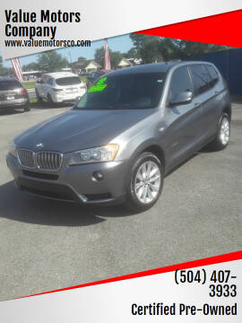 2013 BMW X3 for sale at Value Motors Company in Marrero LA