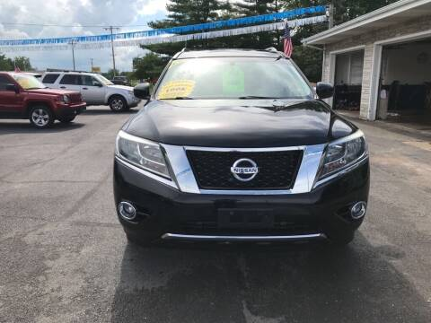 2014 Nissan Pathfinder for sale at Tonys Auto Sales Inc in Wheatfield IN