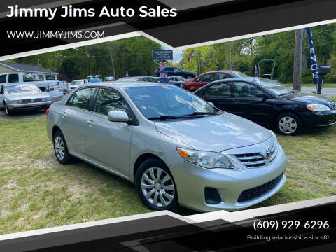 2013 Toyota Corolla for sale at Jimmy Jims Auto Sales in Tabernacle NJ