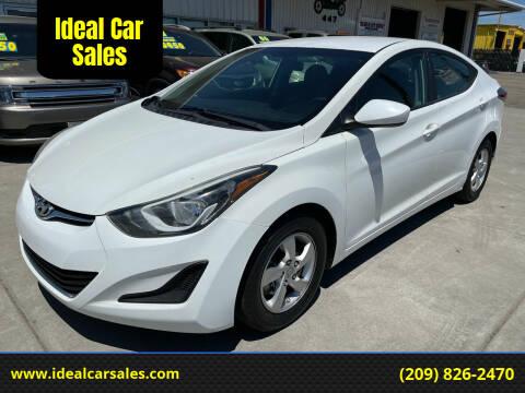 2014 Hyundai Elantra for sale at Ideal Car Sales in Los Banos CA