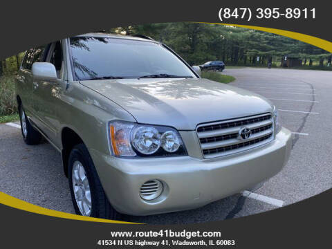 2001 Toyota Highlander for sale at Route 41 Budget Auto in Wadsworth IL