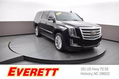 2017 Cadillac Escalade ESV for sale at Everett Chevrolet Buick GMC in Hickory NC