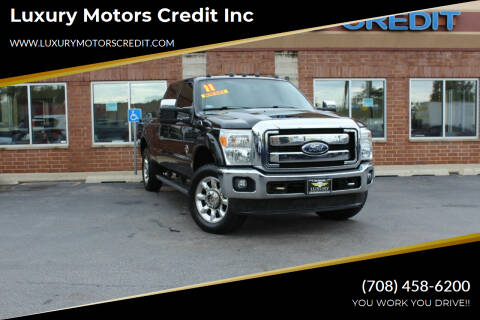 2011 Ford F-250 Super Duty for sale at Luxury Motors Credit Inc in Bridgeview IL