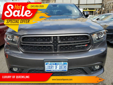 2018 Dodge Durango for sale at LUXURY OF QUEENS,INC in Long Island City NY