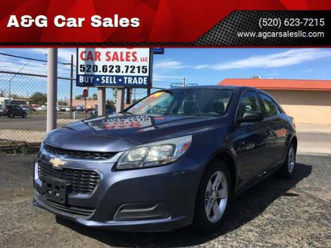 2014 Chevrolet Malibu for sale at A&G Car Sales  LLC in Tucson AZ