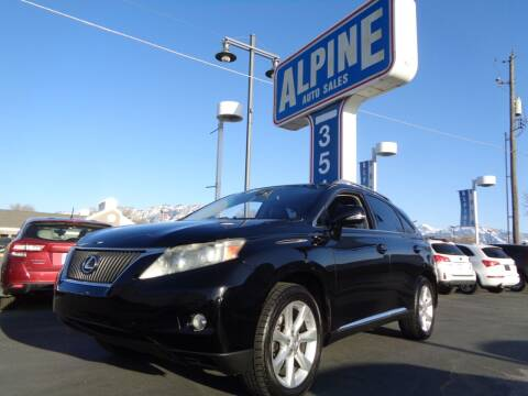 2010 Lexus RX 350 for sale at Alpine Auto Sales in Salt Lake City UT