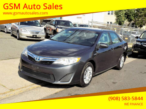 2012 Toyota Camry Hybrid for sale at GSM Auto Sales in Linden NJ