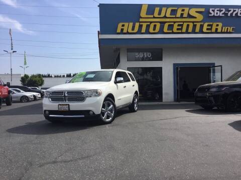 2012 Dodge Durango for sale at Lucas Auto Center in South Gate CA