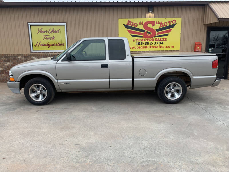 2002 Chevrolet S-10 for sale at BIG 'S' AUTO & TRACTOR SALES in Blanchard OK