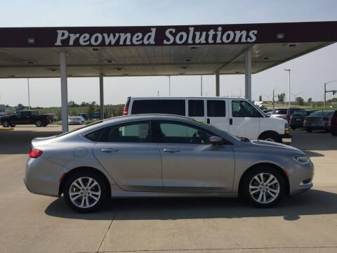 2015 Chrysler 200 for sale at Preowned Solutions in Urbandale IA